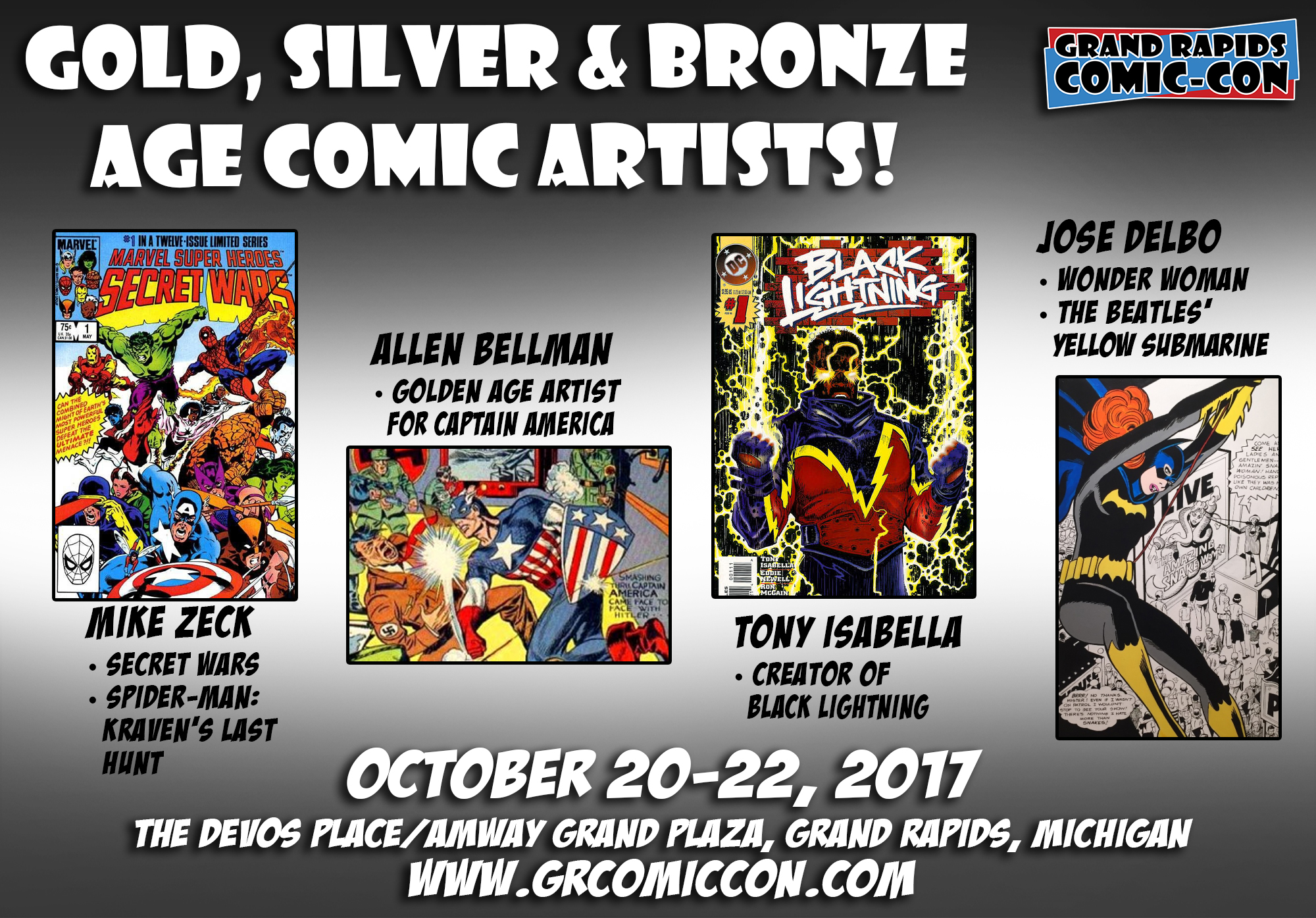 grand rapids comic con october 20 22 2017 at the devos place ultimate responsive image slider plugin powered by weblizar